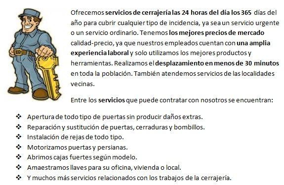 cerrajeros en Villanueva de Duero 24h económicos
